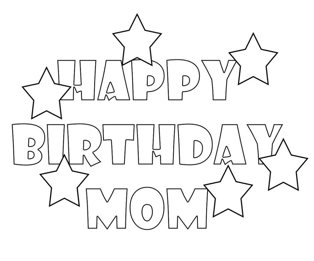 birthday coloring pages for mom happy birthday mom coloring page worksheets happy for pages coloring mom birthday