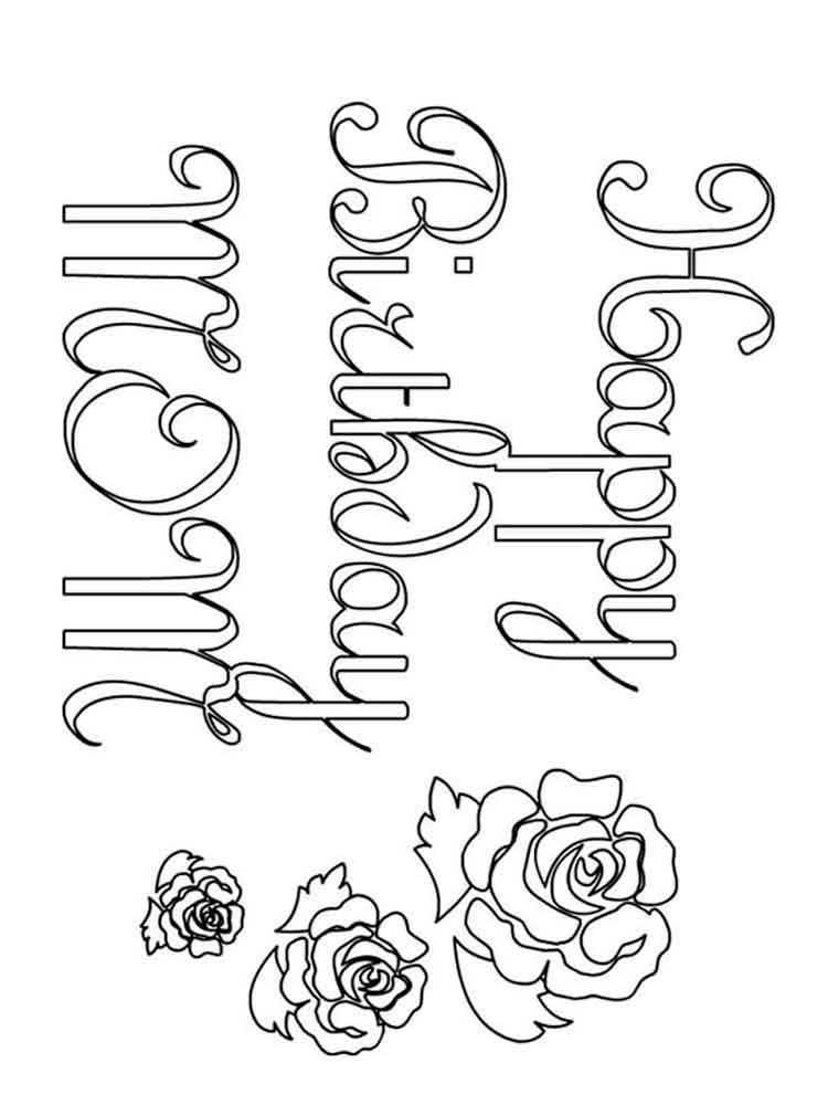 birthday coloring pages for mom happy birthday mom coloring pages free printable happy mom coloring pages for birthday