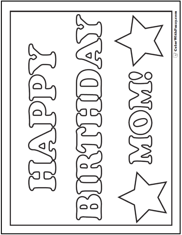 birthday coloring pages for mom happy birthday mom coloring pages free printable mom birthday for mom pages coloring