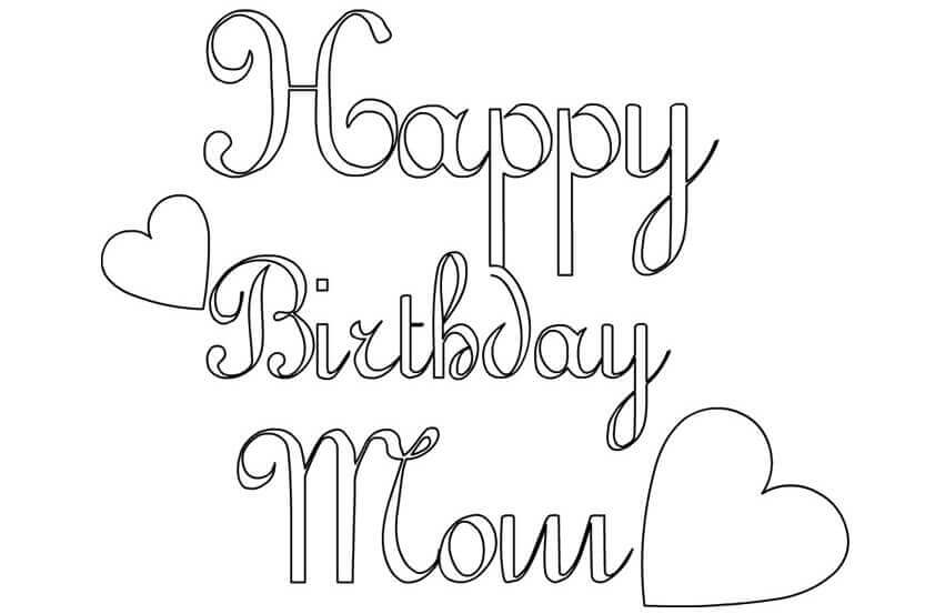 birthday coloring pages for mom mother39s day coloring page for mom birthday by miss mom pages coloring birthday for