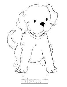 Biscuit the dog coloring pages