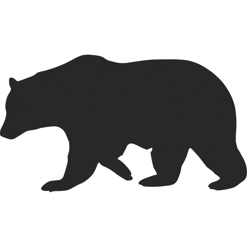black bear silhouette bear and cub silhouette at getdrawings free download black silhouette bear