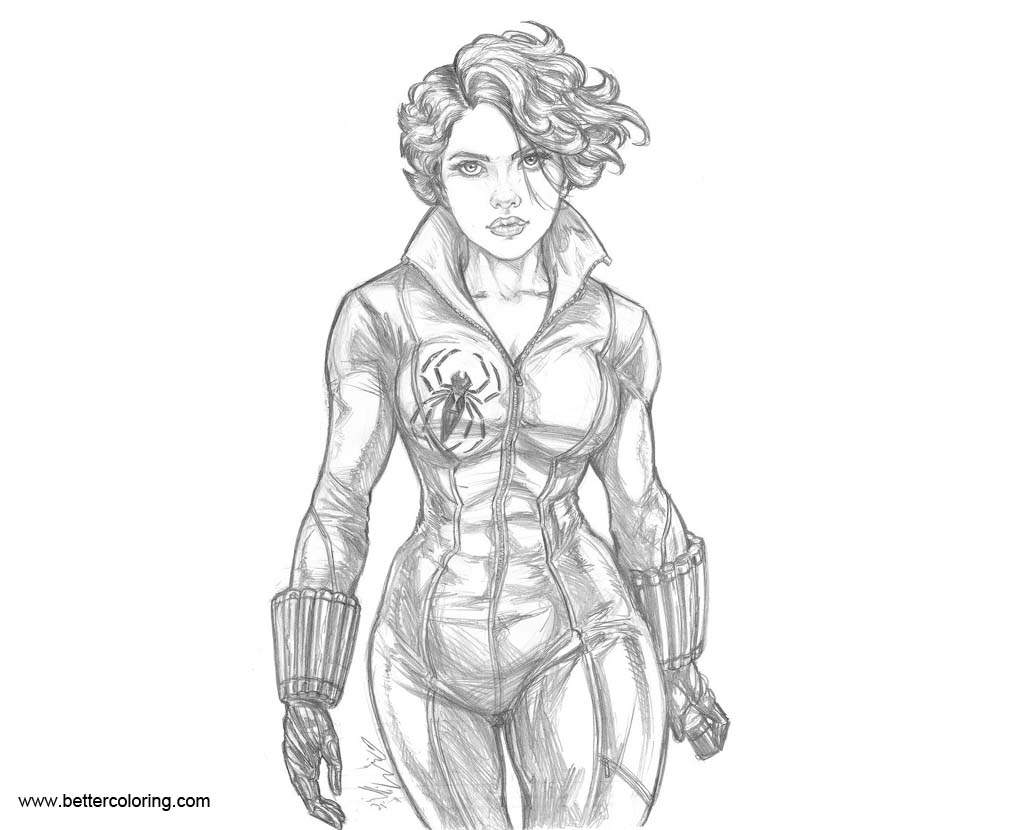 black widow marvel coloring pages avengers black widow coloring pages free printable marvel coloring black widow pages
