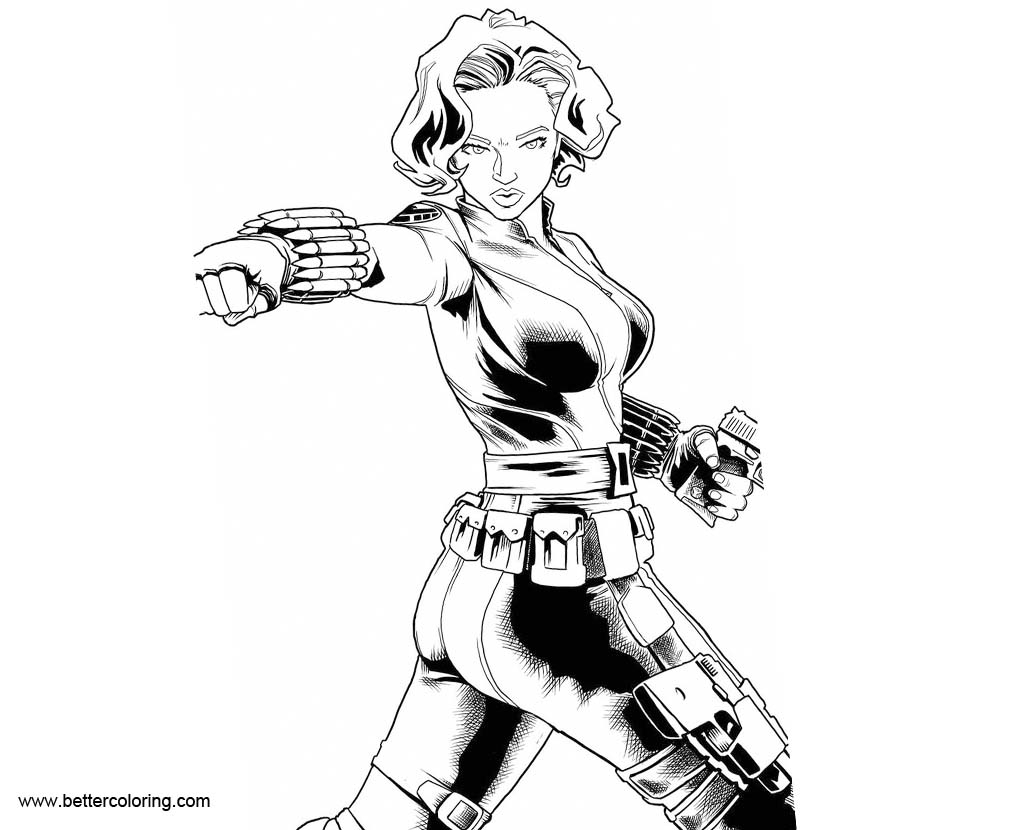 black widow marvel coloring pages black widow coloring pages inks by shoveke free black widow coloring marvel pages