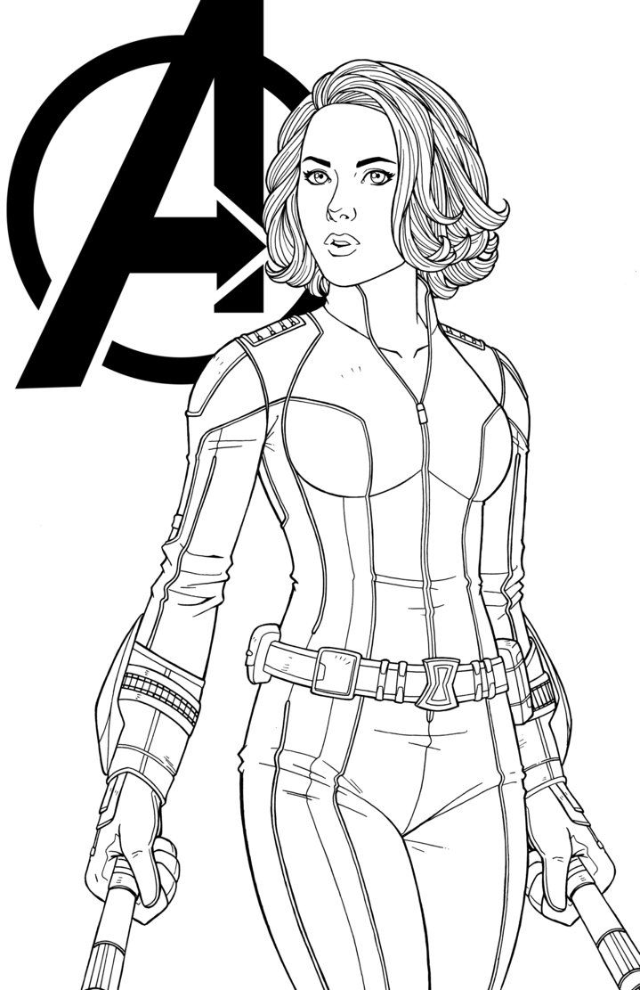 black widow marvel coloring pages cool black widow avengers assemble coloring page see coloring widow pages black marvel