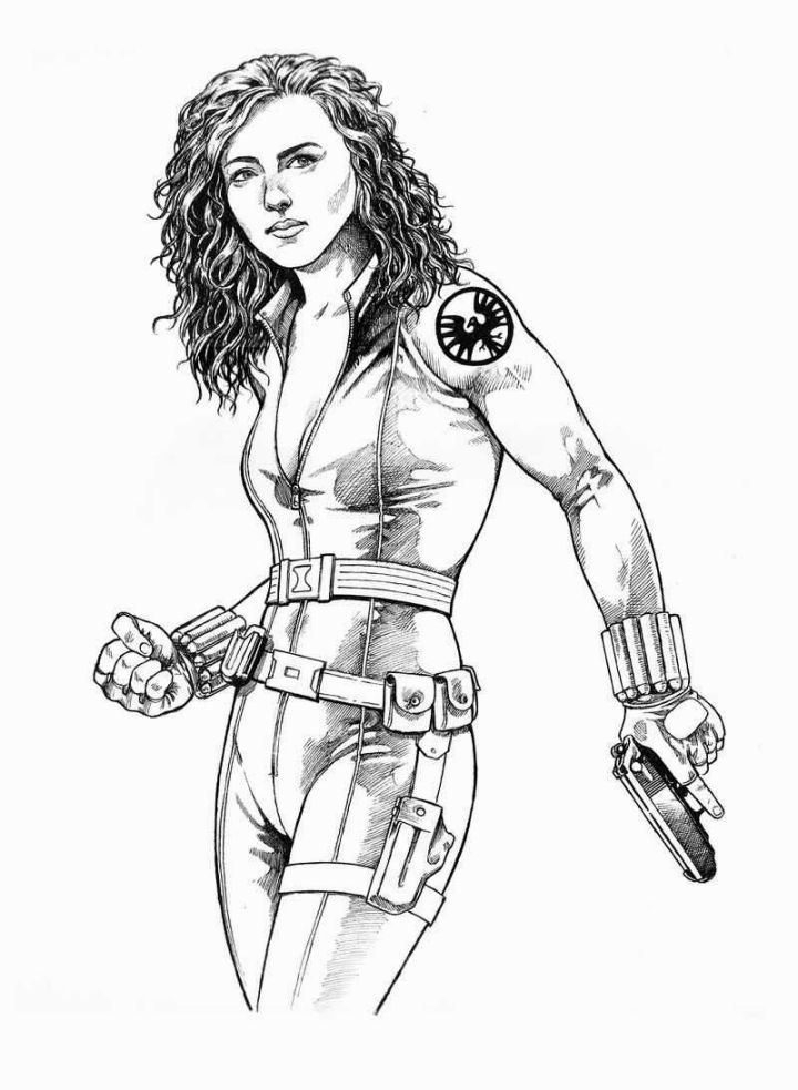 black widow marvel coloring pages marvel super woman black widow coloring pages free marvel widow black coloring pages