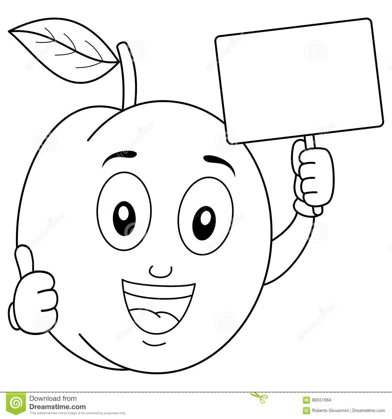 Blank cartoon pictures for colouring