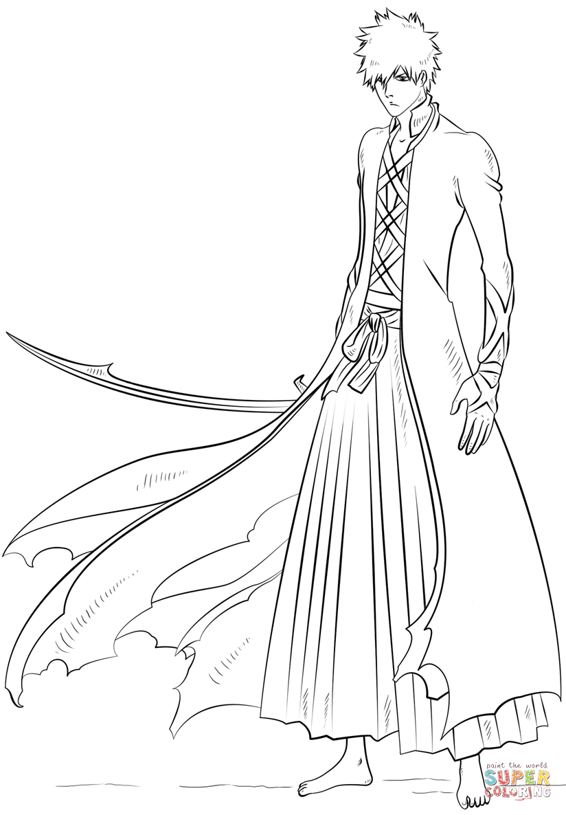 bleach coloring pages bleach coloring pages free downloadable full documents bleach pages coloring