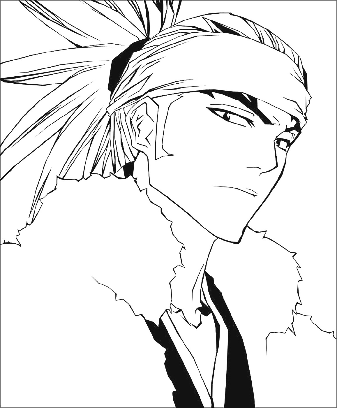 bleach coloring pages bleach yoruichi coloring page coloring pages pages coloring bleach