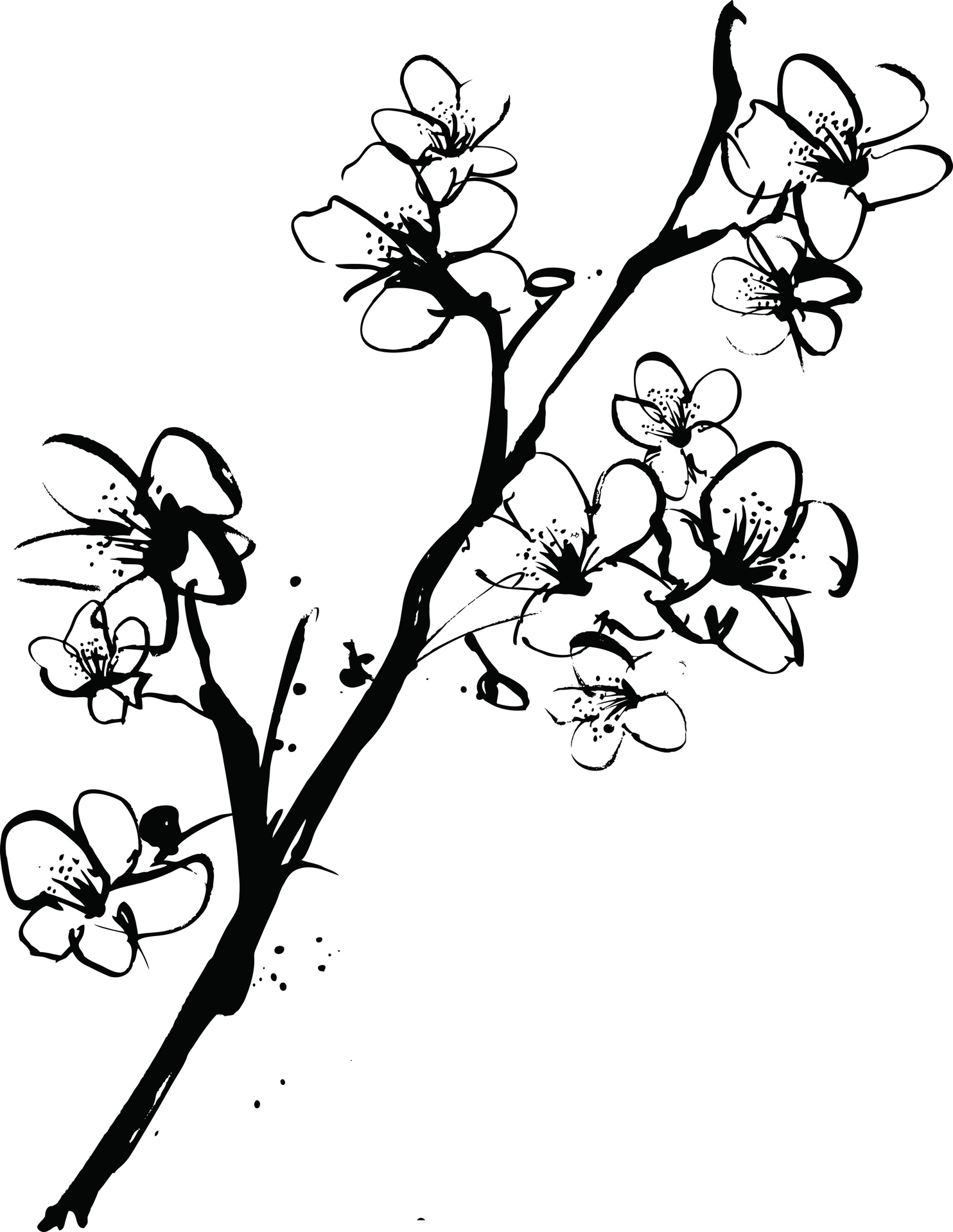 blossom tree drawing cherry blossom tree drawing easy at getdrawings free tree blossom drawing