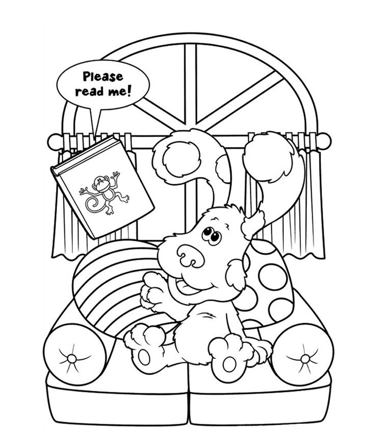 blues clues coloring book blues clues coloring pages getcoloringpagescom book clues coloring blues