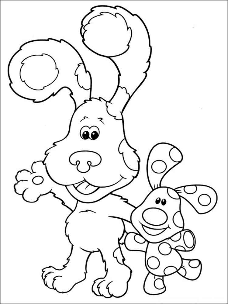 blues clues coloring book blues clues coloring pages to print at getcoloringscom clues coloring blues book
