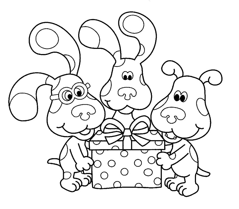 blues clues coloring book blues clues drawing at getdrawings free download blues book coloring clues