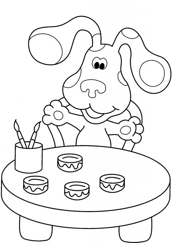 blues clues coloring book blues clues the painter coloring page blues clues the clues blues book coloring