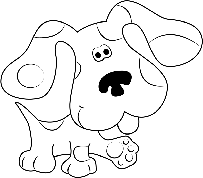 blues clues coloring book free printable blues clues coloring pages for kids book blues coloring clues