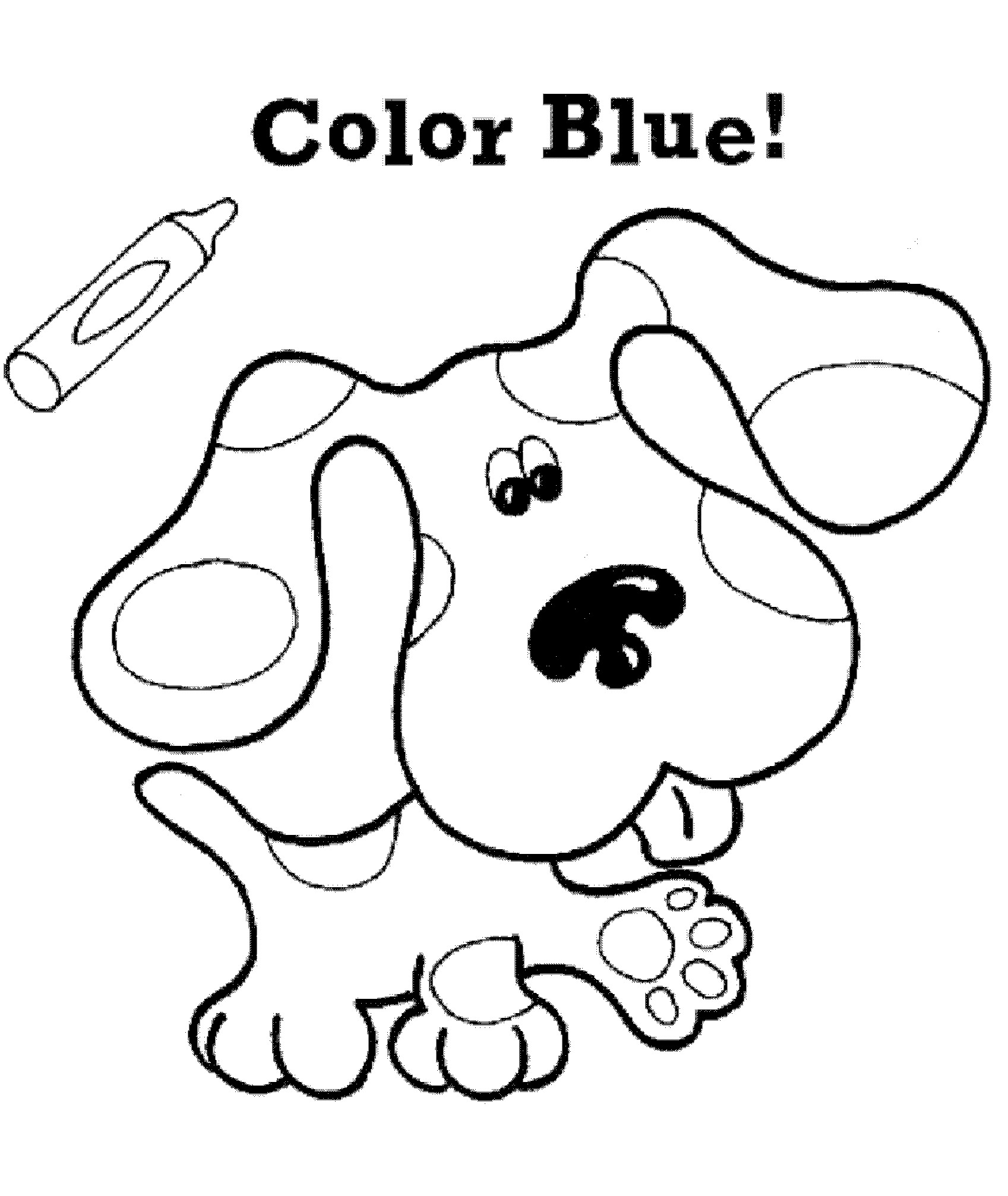 blues clues coloring book free printable blues clues coloring pages for kids book coloring clues blues