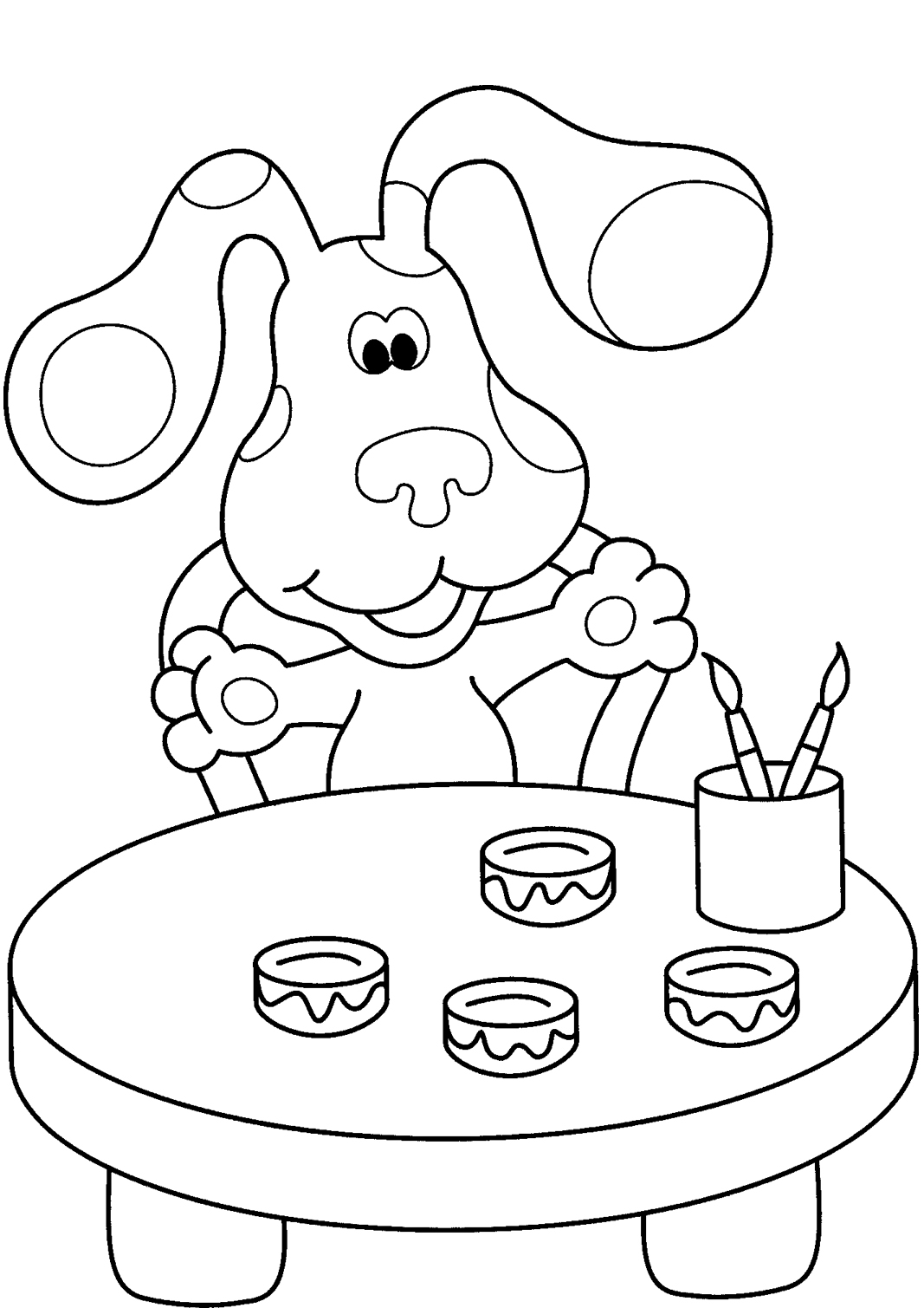 blues clues coloring book free printable blues clues coloring pages for kids clues coloring book blues