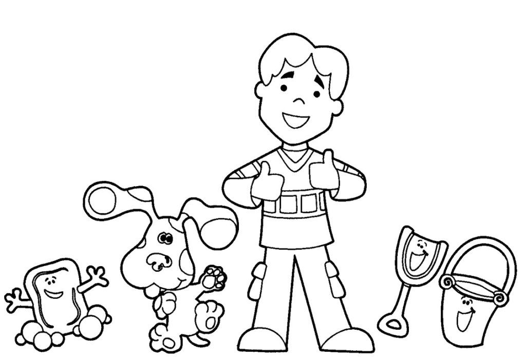 blues clues coloring book free printable blues clues coloring pages for kids coloring clues blues book