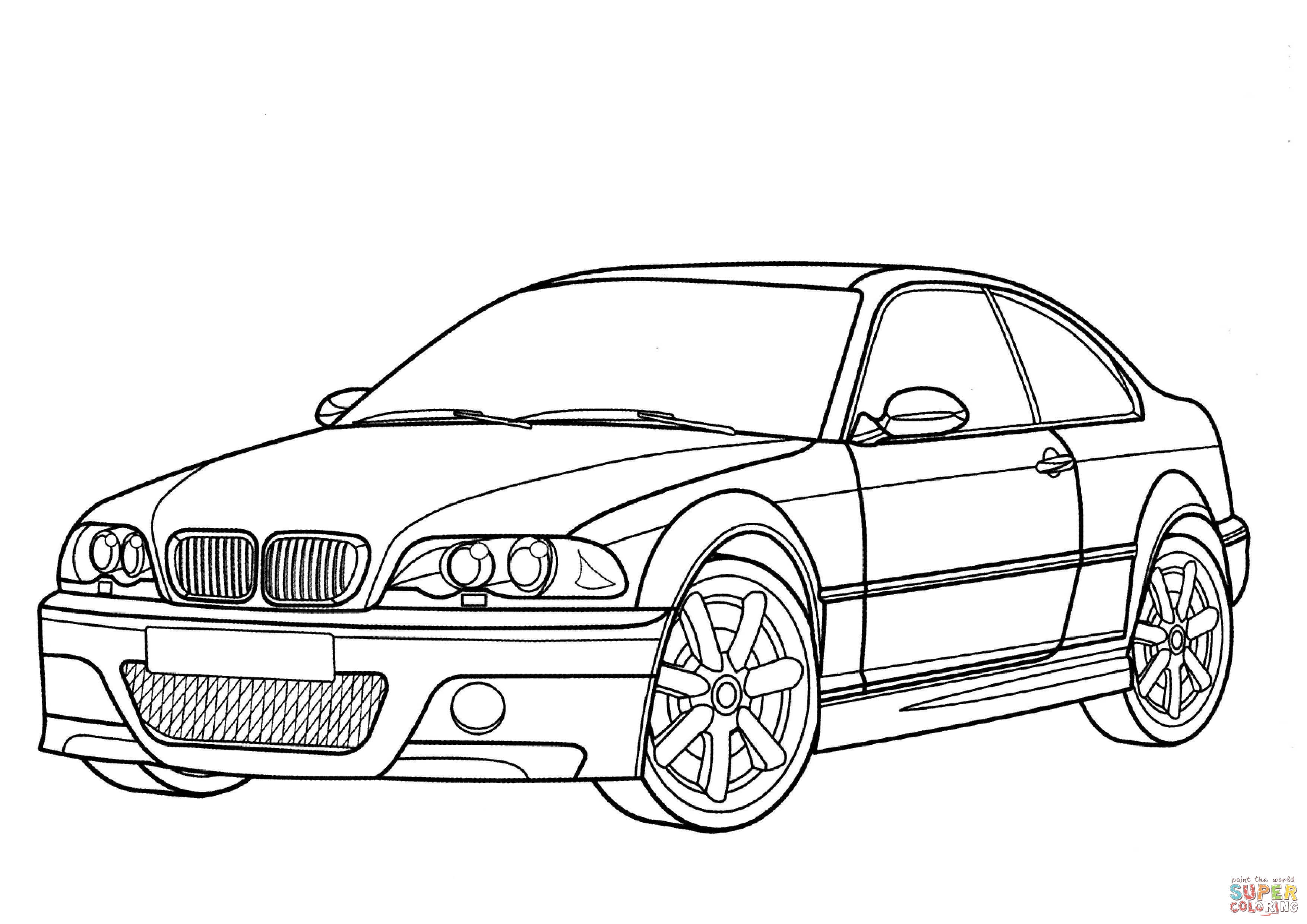 Bmw m3 coloring pages