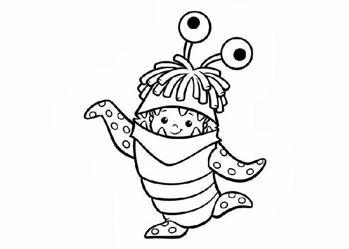 boo monsters inc coloring pages boo is making lots of trouble in monsters inc coloring pages boo monsters inc coloring