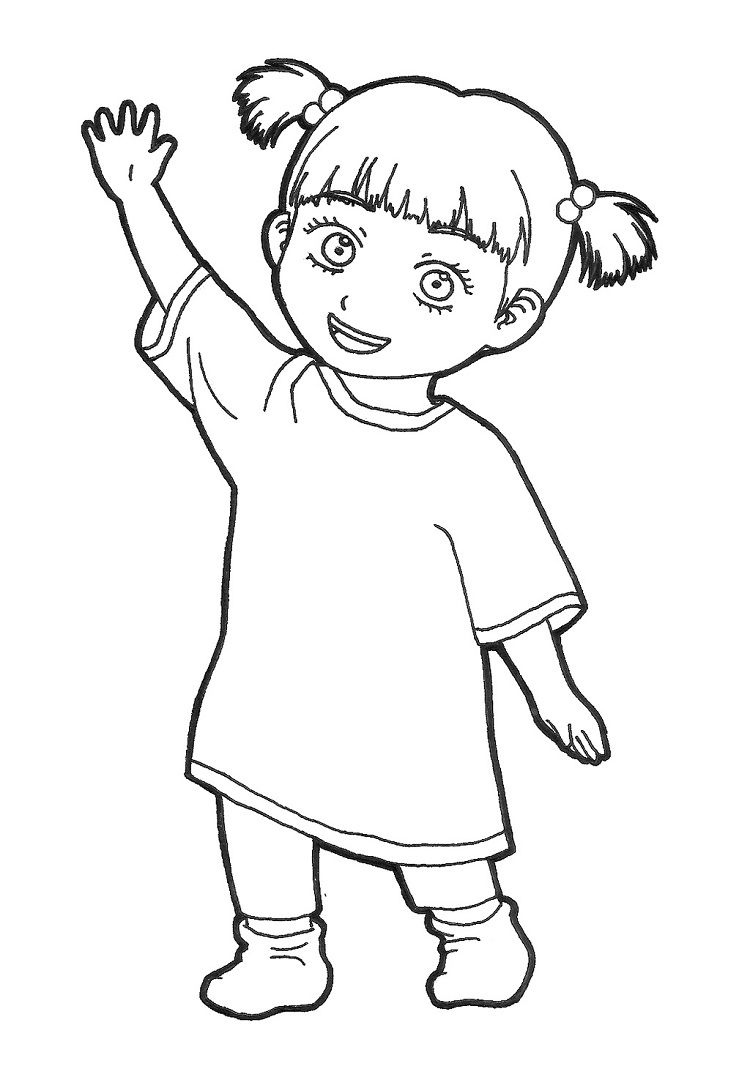 boo monsters inc coloring pages boo thinking monsters inc coloring pages monsters inc monsters boo inc coloring pages
