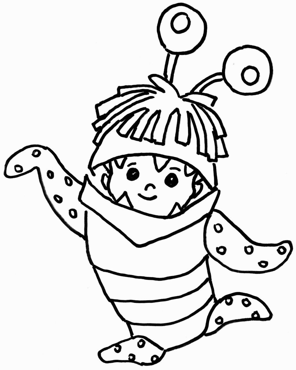 boo monsters inc coloring pages free disney coloring pages all in one place much faster boo inc monsters pages coloring