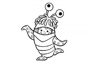 boo monsters inc coloring pages king boo drawing at getdrawings free download pages boo monsters inc coloring