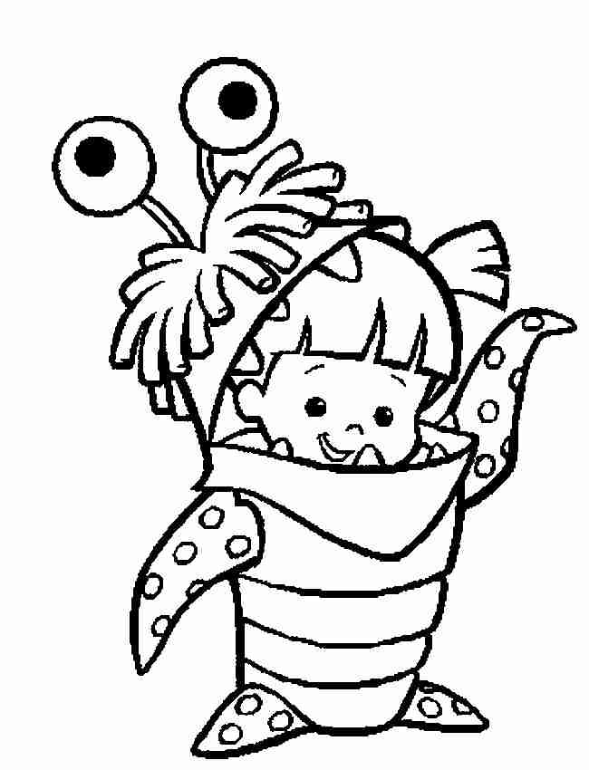 boo monsters inc coloring pages monster inc boo coloring pages monsters inc boo coloring monsters pages boo inc