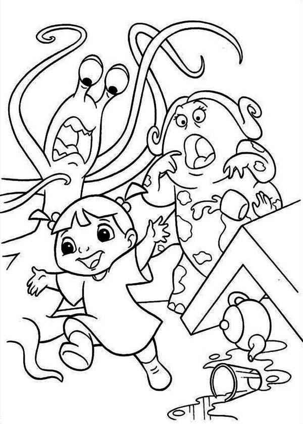 boo monsters inc coloring pages monsters inc boo coloring pages monster inc coloring monsters pages coloring inc boo