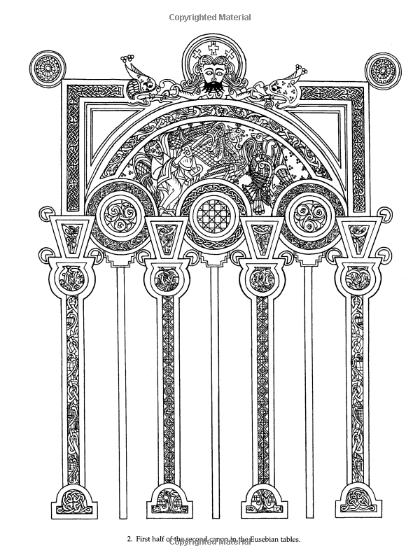 book of kells colouring pages free fileceltic rectangle chienjpg wikimedia commons of free book colouring pages kells