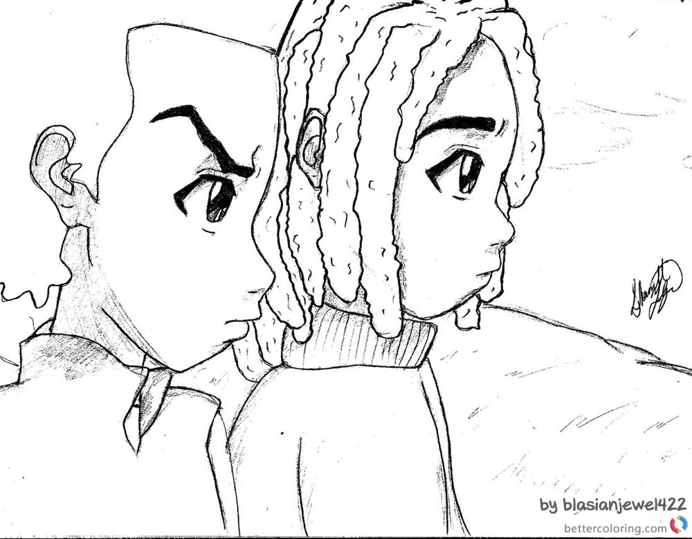 boondocks coloring pages boondocks pages coloring pages pages boondocks coloring