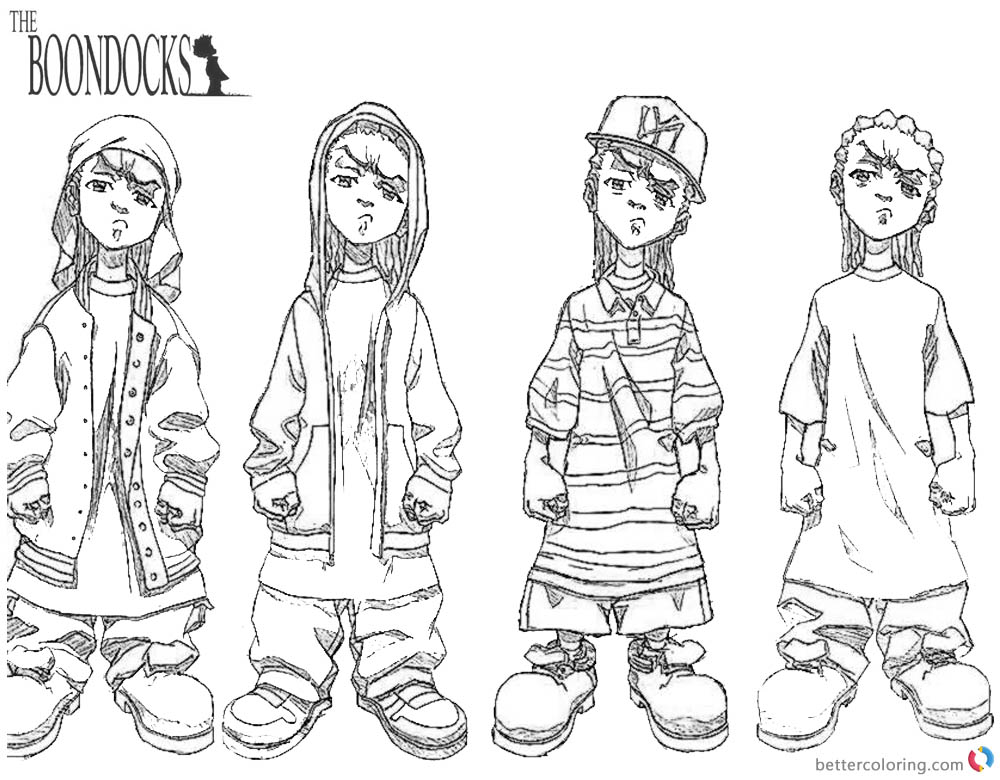 boondocks coloring pages sketch from the boondocks riley coloring pages coloring pages boondocks