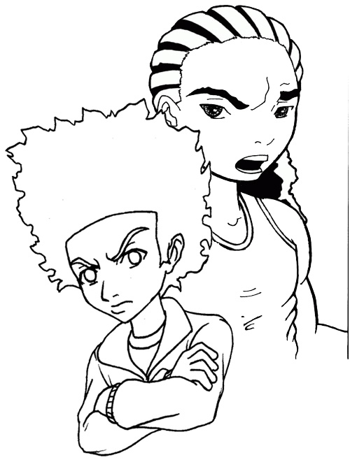 boondocks coloring pages supreme the boondocks coloring page pages coloring boondocks