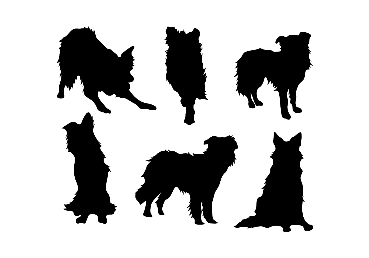 border collie silhouette border collie silhouette vector download free vectors collie border silhouette