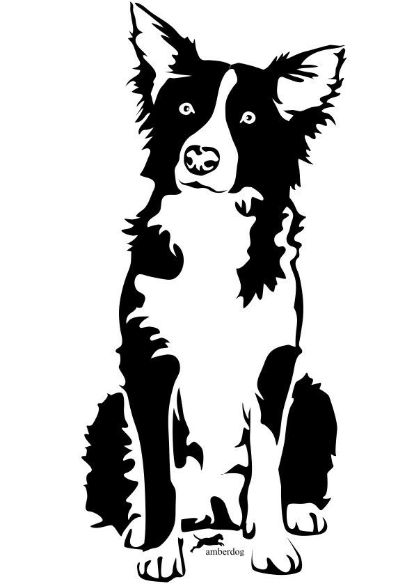 border collie silhouette border collie stalking breed silhouette sticker gift for collie border silhouette