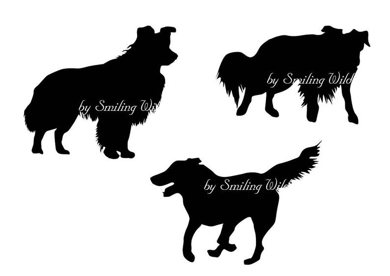 border collie silhouette pin on animals border silhouette collie