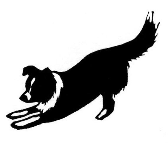 border collie silhouette quotborder collie silhouettesquot stickers by jenn inashvili collie silhouette border