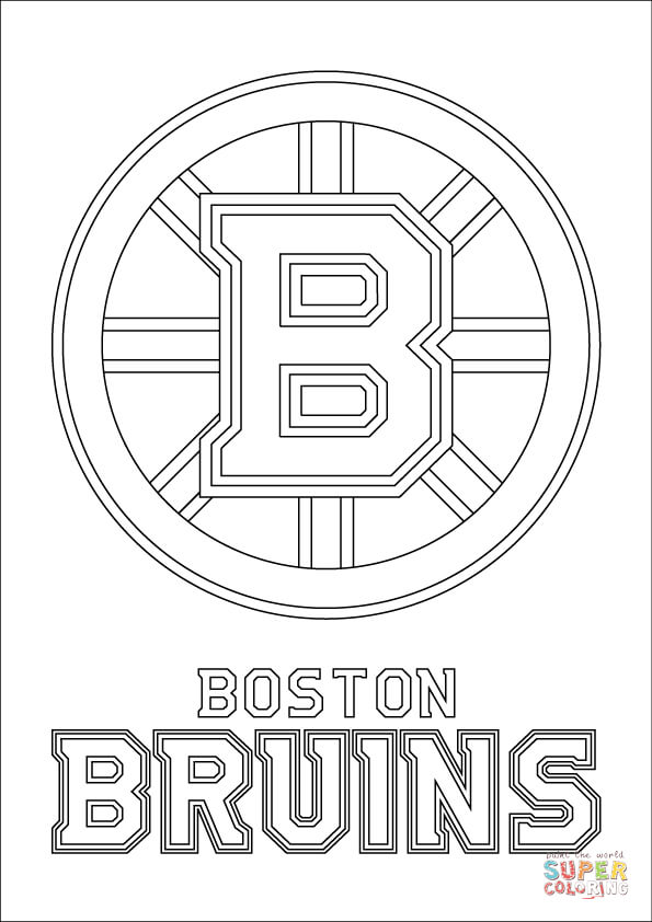 Boston bruins coloring pictures