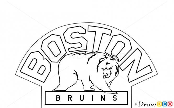boston bruins coloring pictures how to draw boston bruins hockey logos pictures coloring bruins boston
