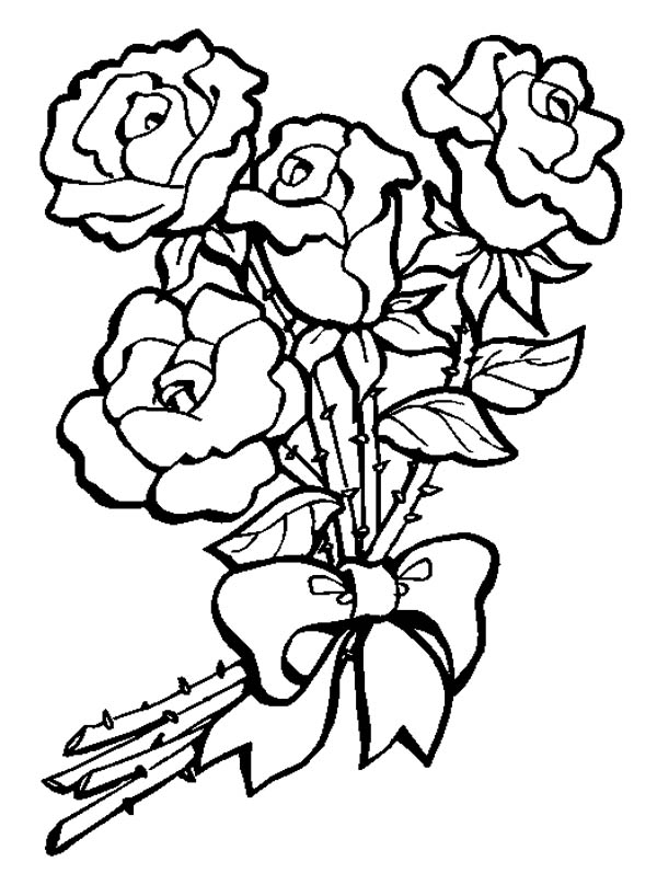 bouquet of roses coloring pages bouquet of flowers nature page 2 printable coloring pages bouquet coloring roses of