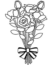 bouquet of roses coloring pages bouquet on nice roses coloring page free flowers bouquet pages coloring of roses