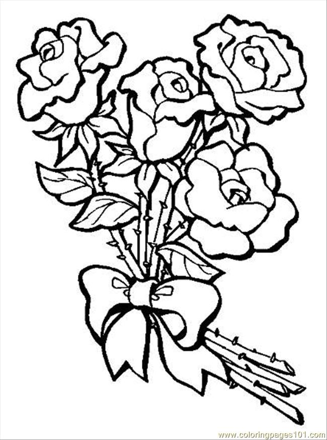 bouquet of roses coloring pages bouquets of flowers coloring pages animationsa2z coloring of roses pages bouquet