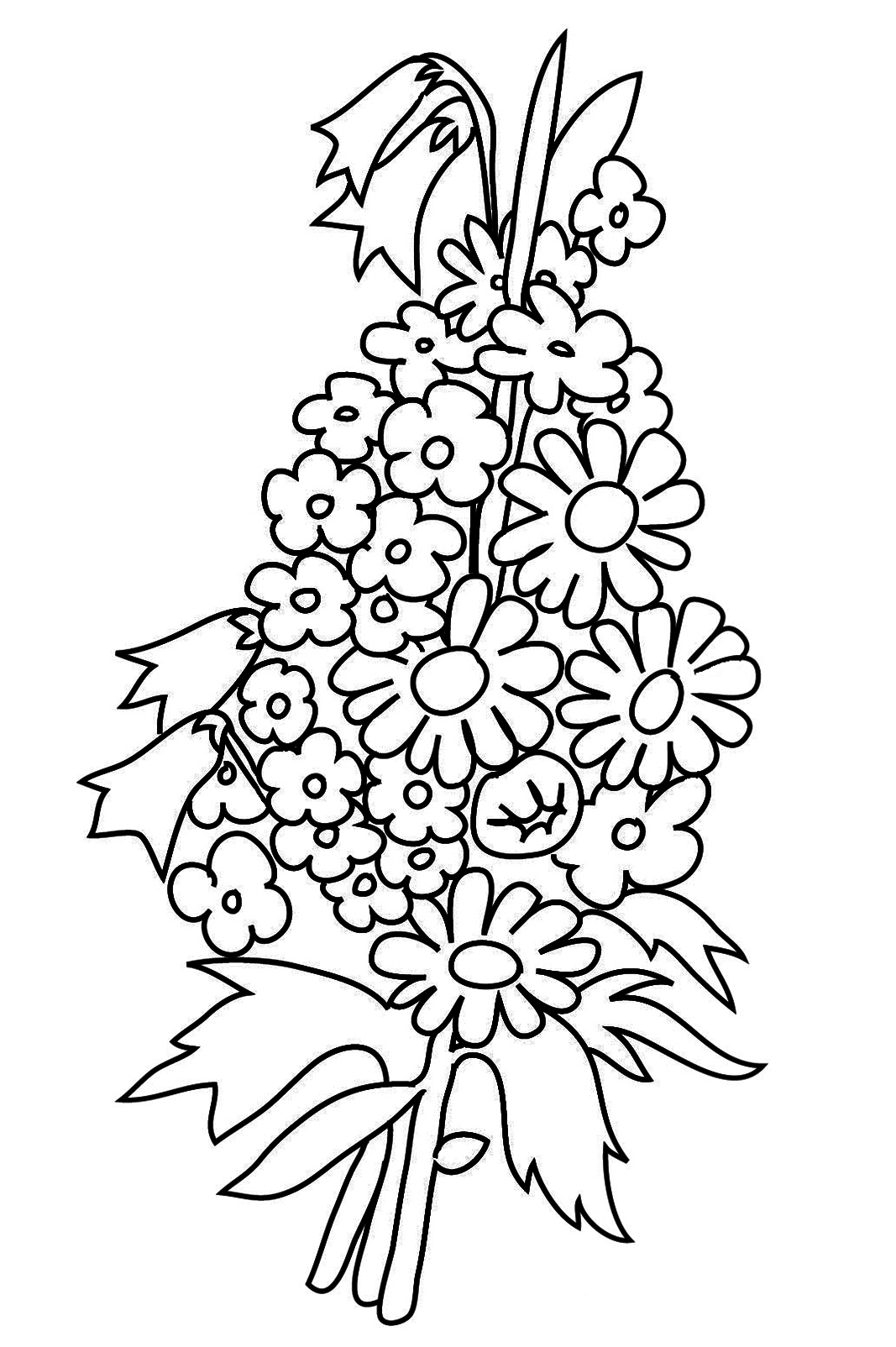 bouquet of roses coloring pages flower bouquet picture of roses for flower bouquet bouquet of pages roses coloring