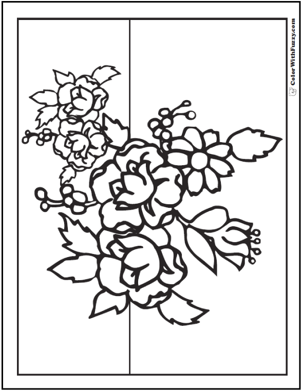 bouquet of roses coloring pages flowers coloring pages sheets topcoloringpagesnet roses bouquet of coloring pages