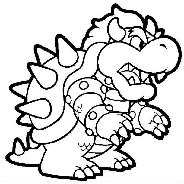 bowser coloring baby bowser coloring pages coloring home coloring bowser