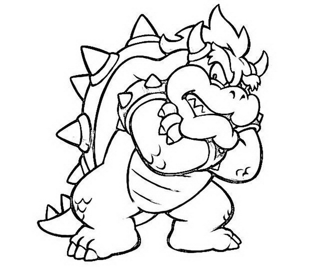 bowser coloring bowser coloring pages free coloring home coloring bowser