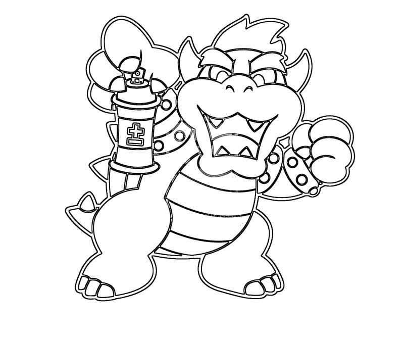 bowser coloring bowser coloring pages to print coloring home coloring bowser