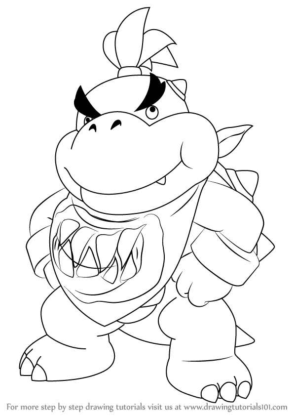 bowser jr pictures learn how to draw bowser jr standing from super mario pictures bowser jr