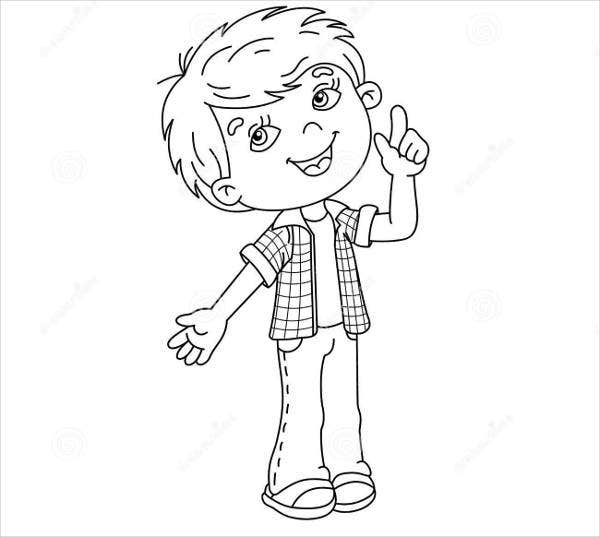 boy coloring template 8 cartoon coloring pages jpg ai illustrator download boy template coloring