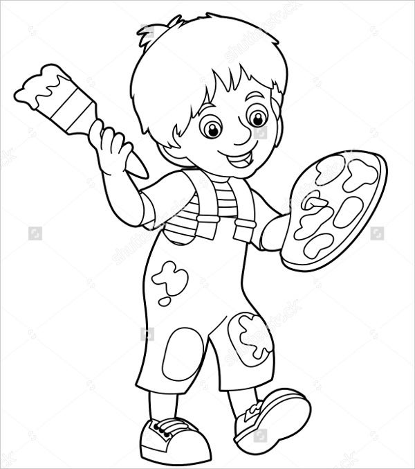 boy coloring template 9 boy coloring pages jpg ai illustrator download template coloring boy